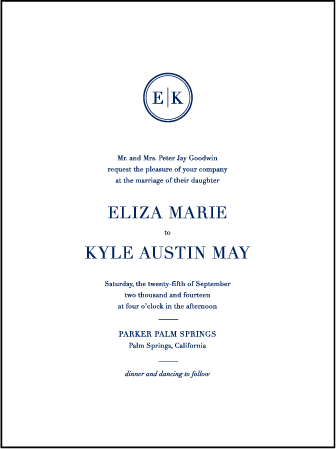 Austin Traditional Letterpress Invitation Design Medium