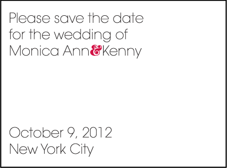 Avant Letterpress Save The Date Design Medium