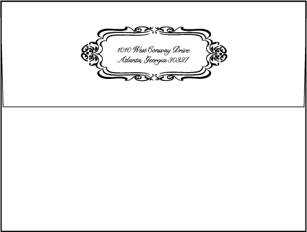 Avenue Letterpress Envelope Design Medium