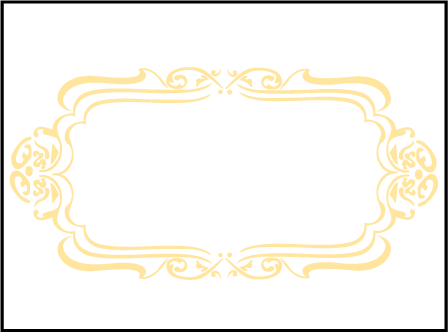 Avenue Letterpress Placecard Flat Design Medium