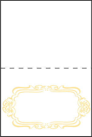 Avenue Letterpress Placecard Fold Design Medium