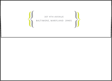 Avion Letterpress Envelope Design Medium