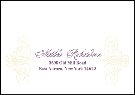 Baroque Letterpress Reply Envelope Design Medium
