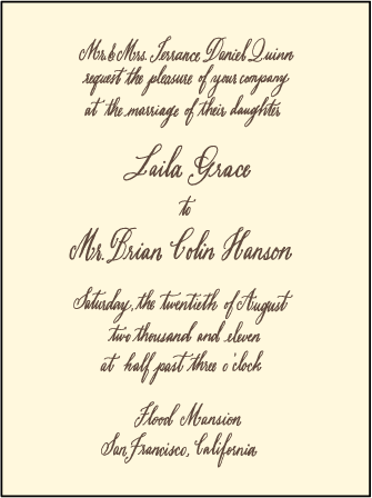 Belle Calligraphy Letterpress Invitation Design Medium