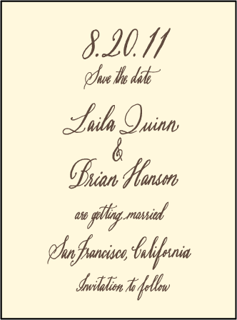 Belle Calligraphy Letterpress Save The Date Design Medium
