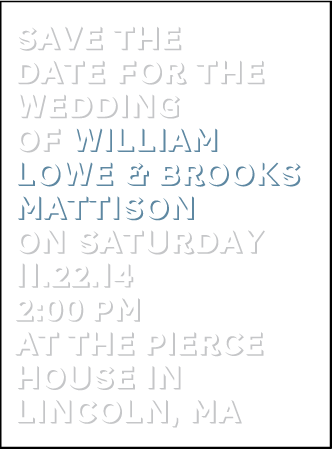 Bennett Simple Letterpress Save The Date Design Medium