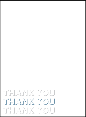 Bennett Simple Letterpress Thank You Card Flat Design Medium
