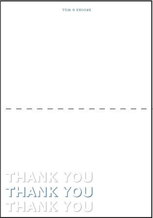 Bennett Simple Letterpress Thank You Card Fold Design Medium