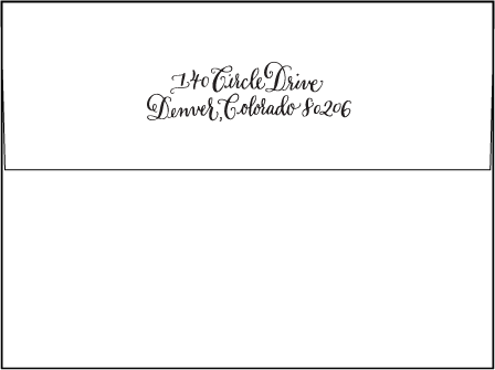 Bescal Calligraphy Letterpress Envelope Design Medium