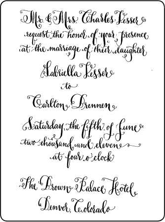 Bescal Calligraphy Letterpress Invitation Design Medium