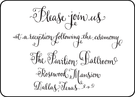 Bescal Calligraphy Letterpress Reception Design Medium
