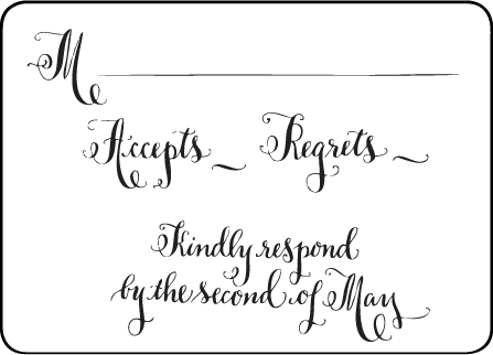 Bescal Calligraphy Letterpress Reply Design Medium