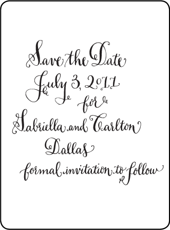 Bescal Calligraphy Letterpress Save The Date Design Medium