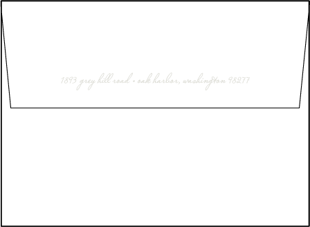 Birch Letterpress Envelope Design Medium