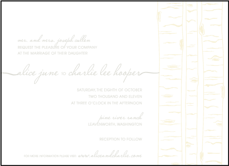 Birch Letterpress Invitation Design Medium