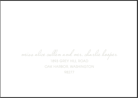 Birch Letterpress Reply Envelope Design Medium