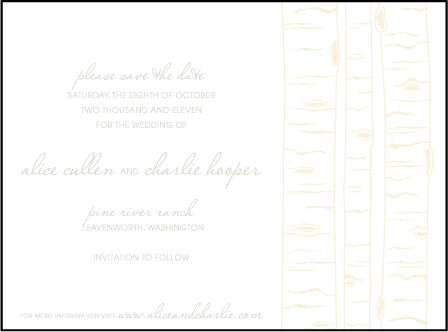 Birch Letterpress Save The Date Design Medium