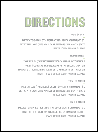 Bleecker Modern Letterpress Direction Design Medium