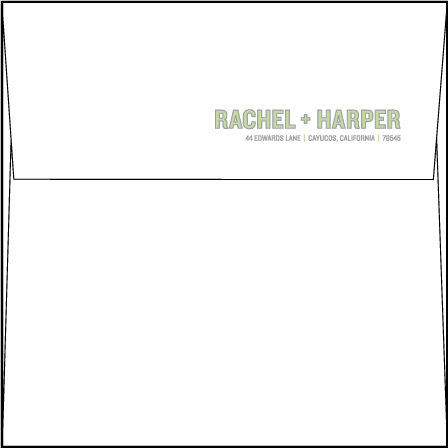 Bleecker Modern Letterpress Envelope Design Medium