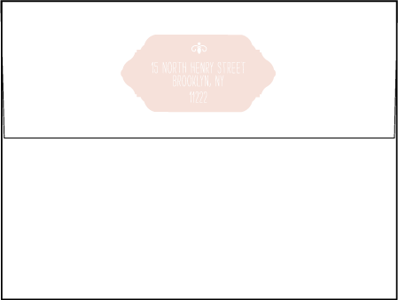 Boardwalk Letterpress Envelope Design Medium