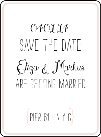 Boardwalk Letterpress Save The Date Design Medium