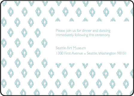 Boho Letterpress Reception Design Medium