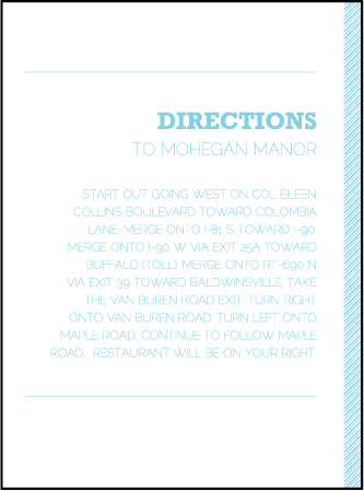 Bold Stripe Letterpress Direction Design Medium