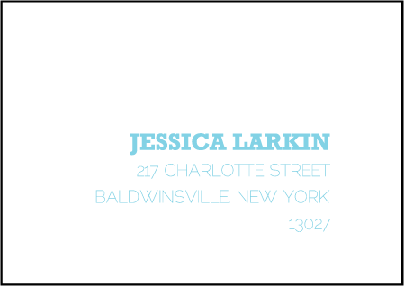 Bold Stripe Letterpress Reply Envelope Design Medium