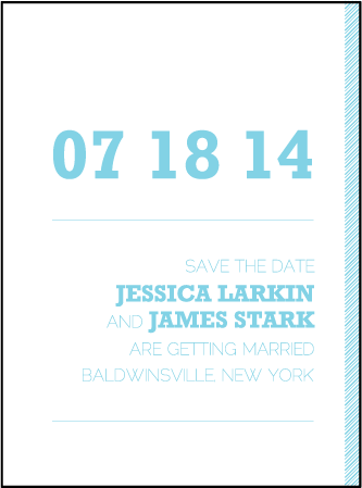 Bold Stripe Letterpress Save The Date Design Medium