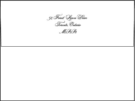Bordure Letterpress Envelope Design Medium