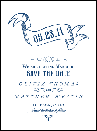 Bradford Letterpress Save The Date Design Medium