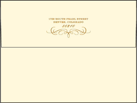 Branch Letterpress Envelope Design Medium