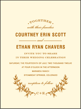 Branch Letterpress Invitation Design Medium