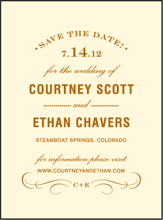 Branch Letterpress Save The Date Design Medium