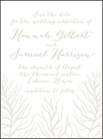 Breakers Letterpress Save The Date Design Medium