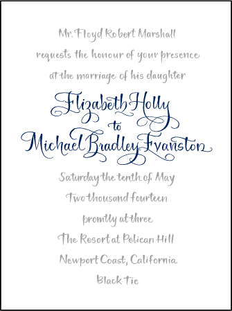 Bristol Calligraphy Letterpress Invitation Design Medium