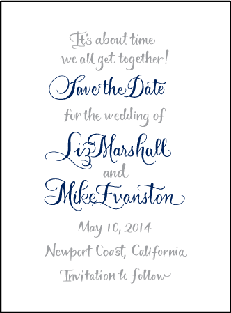 Bristol Calligraphy Letterpress Save The Date Design Medium
