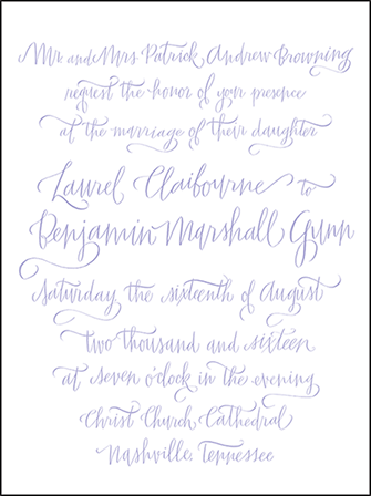 Browning Letterpress Invitation Design Medium