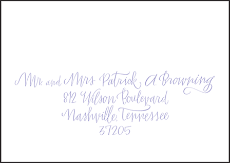 Browning Letterpress Reply Envelope Design Medium