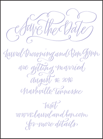 Browning Letterpress Save The Date Design Medium