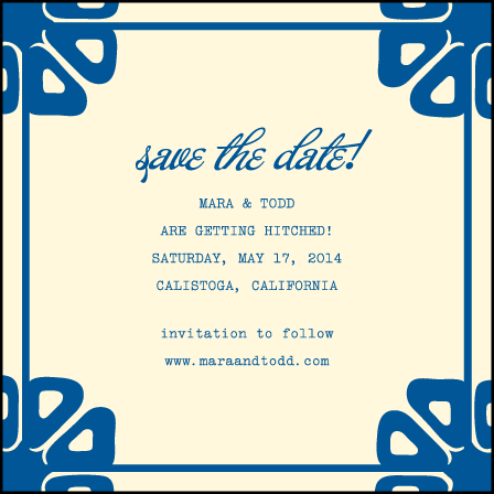 Byzantine Letterpress Save The Date Design Medium
