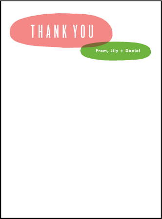Calder Letterpress Thank You Card Flat Design Medium