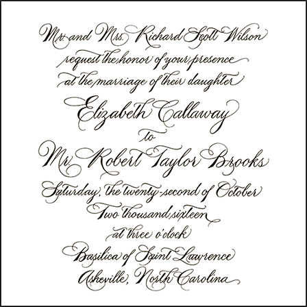 Callaway Letterpress Invitation Design Medium