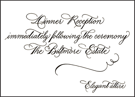 Callaway Letterpress Reception Design Medium