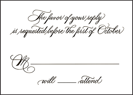 Callaway Letterpress Reply Design Medium