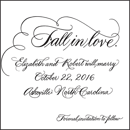 Callaway Letterpress Save The Date Design Medium