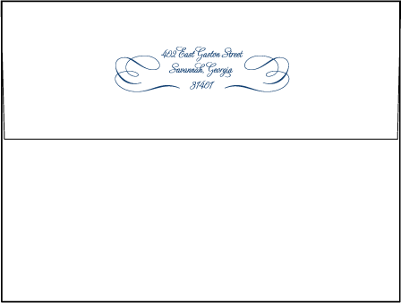 Cameo Letterpress Envelope Design Medium