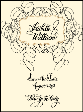 Canto Letterpress Save The Date Design Medium