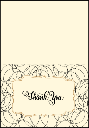 Canto Letterpress Thank You Card Fold Design Medium