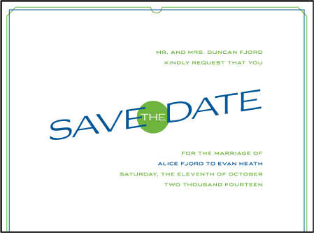 Cardette Letterpress Save The Date Design Medium
